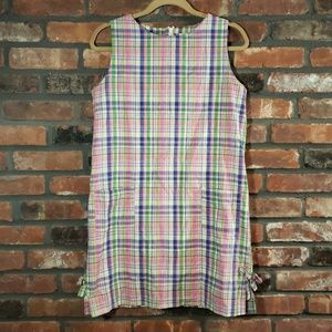 Lilly Pulitzer Sleeveless Plaid Cotton Shift Dress